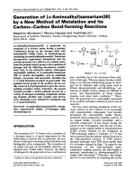 Generation of (-aminoalkyl)samarium(III) by a new method of metalation and its carbonЦcarbon bond-forming reactions.