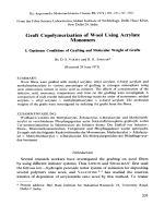 Graft copolymerization of wool using acrylate monomers. I. Optimum conditions of grafting and molecular weight of grafts
