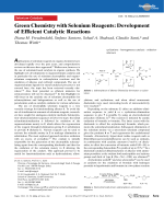 Green Chemistry with Selenium Reagents  Development of Efficient Catalytic Reactions.