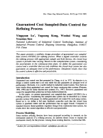 Guaranteed Cost Sampled-Data Control for Refining Process.