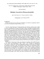 Hedrite growth in polyacrylonitrile.