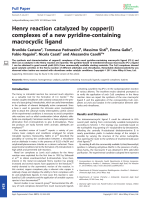 Henry reaction catalyzed by copper(I) complexes of a new pyridine-containing macrocyclic ligand.