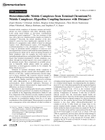 Heterobimetallic Nitride Complexes from Terminal Chromium(V) Nitride Complexes  Hyperfine Coupling Increases with Distance.