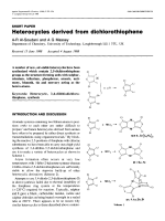 Heterocycles derived from dichlorothiophene.
