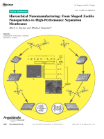 Hierarchical Nanomanufacturing  From Shaped Zeolite Nanoparticles to High-Performance Separation Membranes.