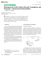 Homogeneous Gold Catalysis Beyond Assumptions and ProposalsЧCharacterized Intermediates.