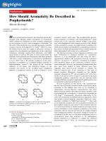 How Should Aromaticity Be Described in Porphyrinoids.