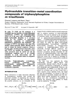 Hydrosoluble transition-metal coordination compounds of triphenylphosphine m-trisulfonate.