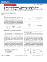 Hypervalent Bromine Compounds  Smaller  More Reactive Analogues of Hypervalent Iodine Compounds.