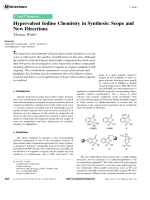 Hypervalent Iodine Chemistry in Synthesis  Scope and New Directions.