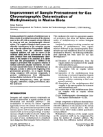Improvement of sample pretreatment for gas chromatographic determination of methylmercury in marine biota.