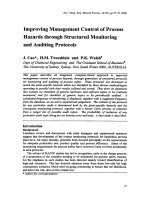 Improving Management Control of Process Hazards through Structured Monitoring and Auditing Protocols.