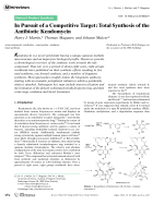 In Pursuit of a Competitive Target  Total Synthesis of the Antibiotic Kendomycin.