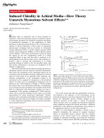 Induced Chirality in Achiral MediaЧHow Theory Unravels Mysterious Solvent Effects.