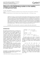 Influence of the Weienberg number on the stability of Oldroyd kind fluids.
