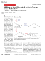 Inhibitors of Sterol Biosynthesis as Staphylococcus aureus Antibiotics.