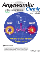 Inside Cover  Addition Reactions of Sulfonylimidates with Imines Catalyzed by Alkaline Earth Metals (Angew. Chem. Int. Ed. 322009)