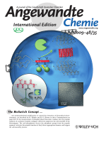 Inside Cover  Biotransformation on PolymerЦPeptide Conjugates  A Versatile Tool to Trigger Microstructure Formation (Angew. Chem. Int. Ed. 352009)