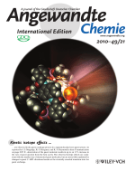 Inside Cover  Does Size Really Matter The Steric Isotope Effect in a Supramolecular HostЦGuest Exchange Reaction (Angew. Chem. Int. Ed. 212010)