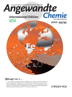 Inside Cover  Enantioselective Synthesis of Amines  General  Efficient Iron-Catalyzed Asymmetric Transfer Hydrogenation of Imines (Angew. Chem. Int. Ed