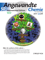 Inside Cover  Extension of The Stber Method to the Preparation of Monodisperse ResorcinolЦFormaldehyde Resin Polymer and Carbon Spheres (Angew. Chem. Int. Ed. 262011)