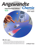 Inside Cover  Paper Spray for Direct Analysis of Complex Mixtures Using Mass Spectrometry (Angew. Chem. Int. Ed. 52010)