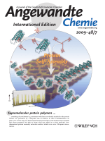 Inside Cover  Self-Assembly of One- and Two-Dimensional Hemoprotein Systems by Polymerization through HemeЦHeme Pocket Interactions (Angew. Chem. Int. Ed. 72009)