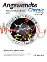 Inside Cover  Spectroscopic Evidence for an Enhanced AnionЦCation Interaction from Hydrogen Bonding in Pure Imidazolium Ionic Liquids (Angew. Chem. Int. Ed. 22010)