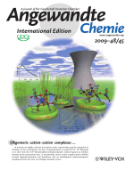Inside Cover  Stable Pentavalent Uranyl Species and Selective Assembly of a Polymetallic Mixed-Valent Uranyl Complex by CationЦCation Interactions (Angew. Chem. Int. Ed. 452009)