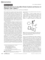 Interaction between d- and p-Block Metals  Synthesis and Structure of PlatinumЦAlane Adducts.