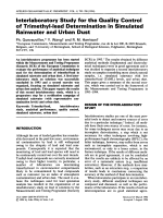 Interlaboratory study for the quality control of trimethyl-lead determination in simulated rainwater and urban dust.