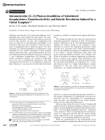 Intramolecular [2+2] Photocycloaddition of Substituted Isoquinolones  Enantioselectivity and Kinetic Resolution Induced by a Chiral Template.