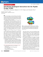 Introducing Quadrupole Interactions into the Peptide Design Toolkit.