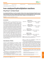 Iron-catalyzed hydrosilylation reactions.