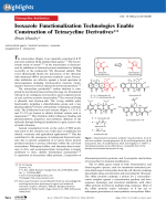 Isoxazole Functionalization Technologies Enable Construction of Tetracycline Derivatives.