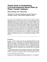 Kinetic Study of Synthesising 2 4 6-tribromophenyl Benzyl Ether by Phase Transfer Catalysis.