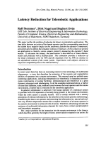Latency Reduction for Telerobotic Applications.