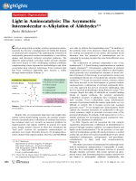 Light in Aminocatalysis  The Asymmetric Intermolecular -Alkylation of Aldehydes.