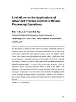 Limitations on the Applications of Advanced Process Control in Mineral Processing Operations.
