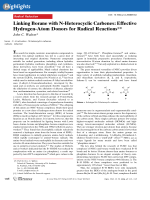 Linking Borane with N-Heterocyclic Carbenes  Effective Hydrogen-Atom Donors for Radical Reactions.