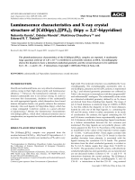 Luminescence characteristics and X-ray crystal structure of [Cd(bipy)3][PF6]2 (bipy = 2 2-bipyridine).