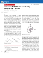 Main-Group-Metal Clusters Stabilized by N-Heterocyclic Carbenes.