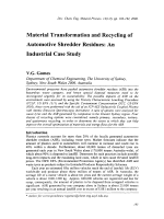 Material Transformation and Recycling of Automotive Shredder Residues  An Industrial Case Study.