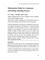 Mathematical Model of a Continuous Galvanizing Annealing Furnace.