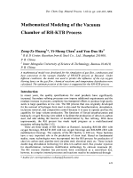Mathematical Modeling of the Vacuum Chamber of RH-KTB Process.