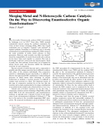 Merging Metal and N-Heterocyclic Carbene Catalysis  On the Way to Discovering Enantioselective Organic Transformations.