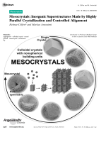 Mesocrystals  Inorganic Superstructures Made by Highly Parallel Crystallization and Controlled Alignment.
