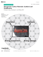 Mesoporous Carbon Materials  Synthesis and Modification.