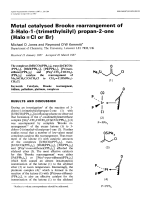 Metal catalysed Brooke rearrangement of 3-Halo-1-(trimethylsilyl) propan-2-one (Halo = Cl or Br).