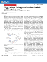 Metal-Mediated Deformylation Reactions  Synthetic and Biological Avenues.